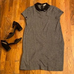LOFT jeweled collar dress